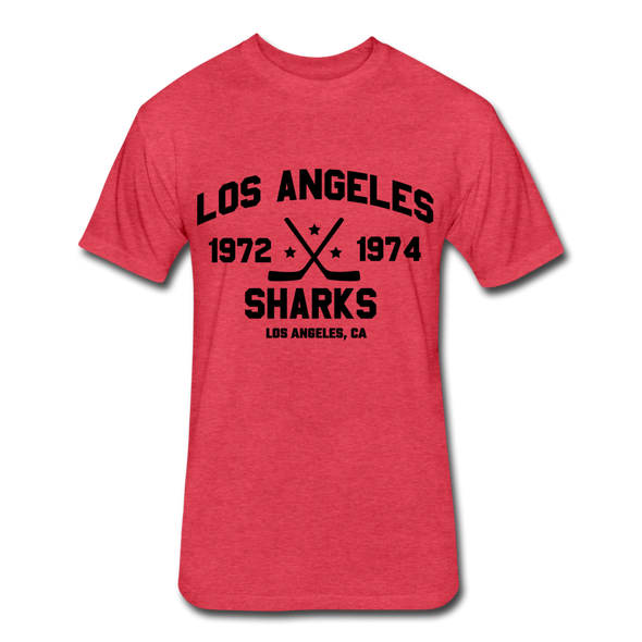 Los Angeles Sharks Dated T-Shirt (WHA) - heather red