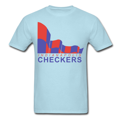 Indianapolis Checkers Logo T-Shirt (CHL) - powder blue