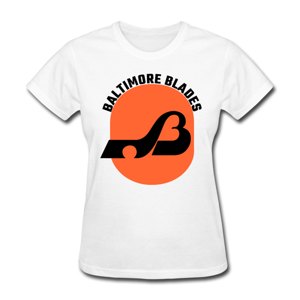 Baltimore Blades Text Logo Women's T-Shirt (WHA) - white
