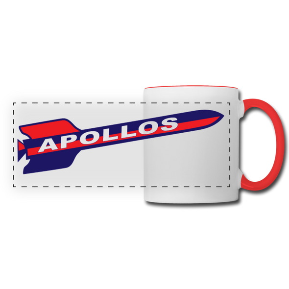 Houston Apollos Rocket Logo Mug - white/red