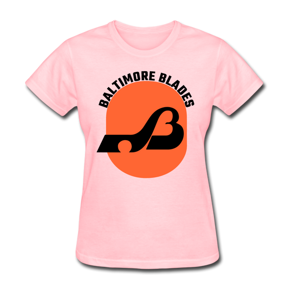 Baltimore Blades Text Logo Women's T-Shirt (WHA) - pink