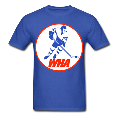 World Hockey Association Logo T-Shirt (WHA) - royal blue