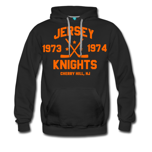 Jersey Knights Double Sided Premium Hoodie (WHA) - black