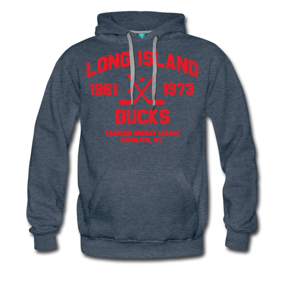 Long Island Ducks Double Sided Premium Hoodie (EHL) - heather denim