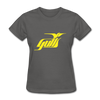 Hampton Gulls Yellow Logo Women's T-Shirt (SHL) - charcoal