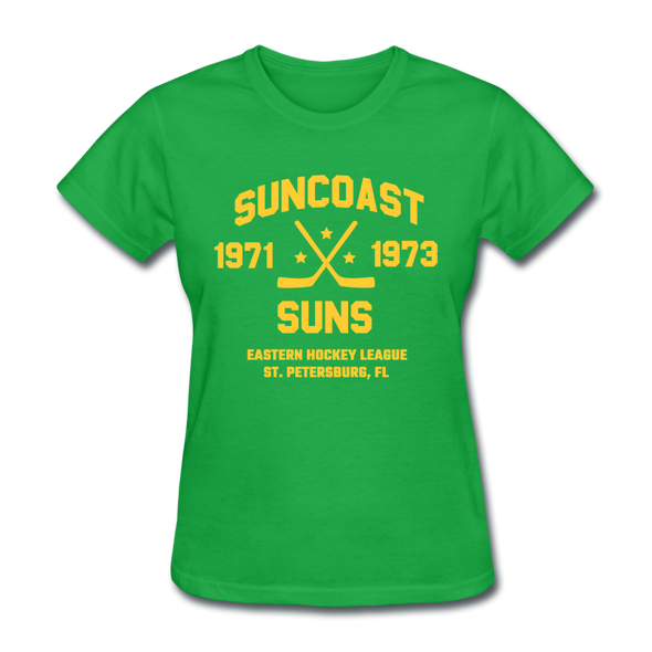 Suncoast Suns Dated Women's T-Shirt (EHL) - bright green