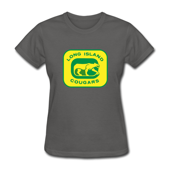 Long Island Cougars Women's T-Shirt (NAHL) - charcoal