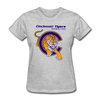 Cincinnati Tigers Logo Women's T-Shirt (CHL) - heather gray