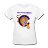 Cincinnati Tigers Logo Women's T-Shirt (CHL) - white
