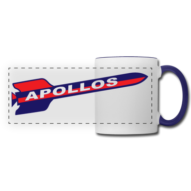 Houston Apollos Rocket Logo Mug - white/cobalt blue