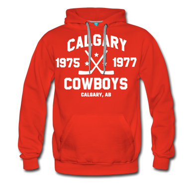Calgary Cowboys Double Sided Premium Hoodie (WHA) - red