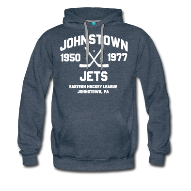 Johnstown Jets Double Sided Premium Hoodie (EHL) - heather denim