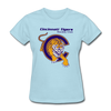 Cincinnati Tigers Logo Women's T-Shirt (CHL) - powder blue