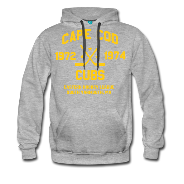 Cape Cod Cubs Double Sided Premium Hoodie (EHL & NAHL) - heather gray