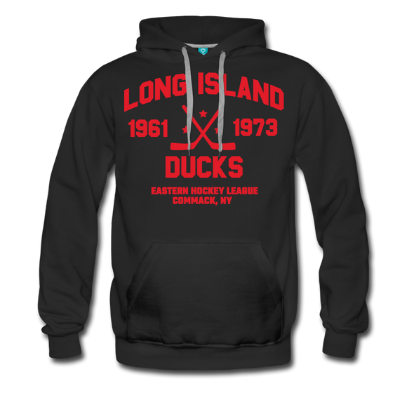 Long Island Ducks Double Sided Premium Hoodie (EHL) - black