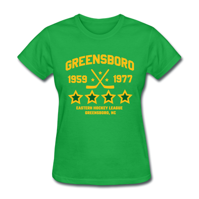 Greensboro Hockey Club Dated Women's T-Shirt (EHL & SHL) - bright green