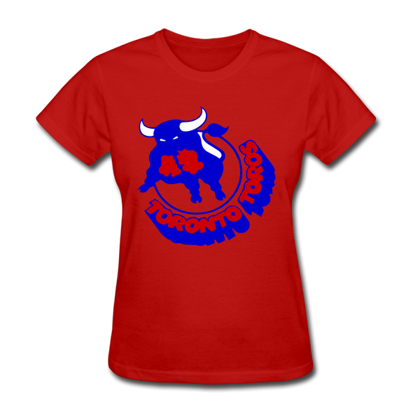 Toronto Toros Logo Women's T-Shirt (WHA) - red