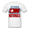 Ottawa Nationals Text Logo T-Shirt (WHA) - white