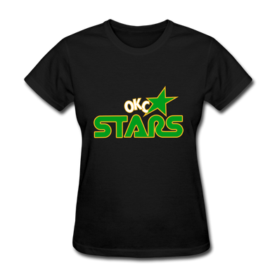Oklahoma City Stars Logo Women's T-Shirt (CHL) - black