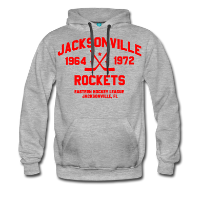 Jacksonville Rockets Double Sided Premium Hoodie (EHL) - heather gray