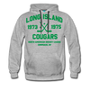 Long Island Cougars Double Sided Premium Hoodie (NAHL) - heather gray