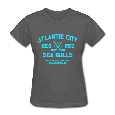 Atlantic City Sea Gulls Dated Women's T-Shirt (EHL) - charcoal
