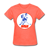World Hockey Association Logo Women's T-Shirt (WHA) - heather coral