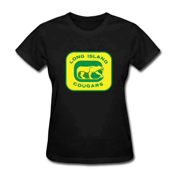 Long Island Cougars Women's T-Shirt (NAHL) - black
