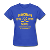 Suncoast Suns Dated Women's T-Shirt (EHL) - royal blue
