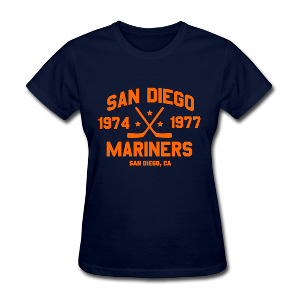 San Diego Mariners Dated Women's T-Shirt (WHA) - navy