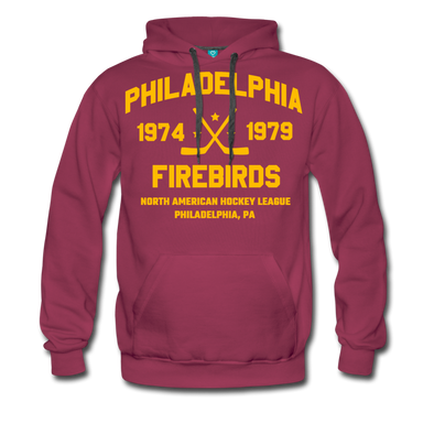 Philadelphia Firebirds Double Sided Premium Hoodie (NAHL) - burgundy