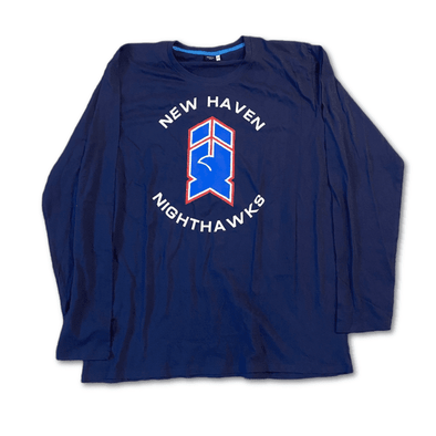 New Haven Nighthawks 1980s Long Sleeve T-Shirt
