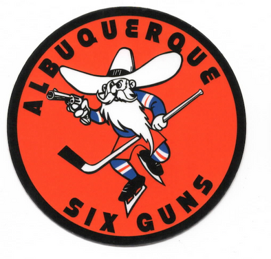 Albuquerque Six Guns Sticker (3x3 in)
