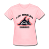 Los Angeles Sharks Logo Women's T-Shirt (WHA) - pink