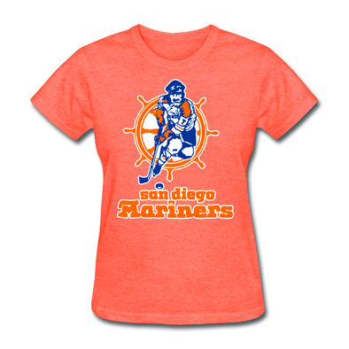 San Diego Mariners Logo Women's T-Shirt (WHA) - heather coral