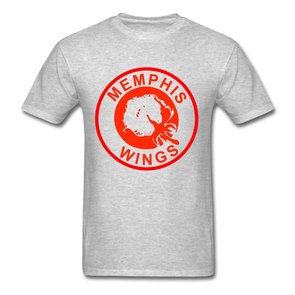 Memphis Wings Logo T-Shirt (CHL) - heather gray