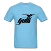 Hampton Gulls Black Logo T-Shirt (SHL) - aquatic blue