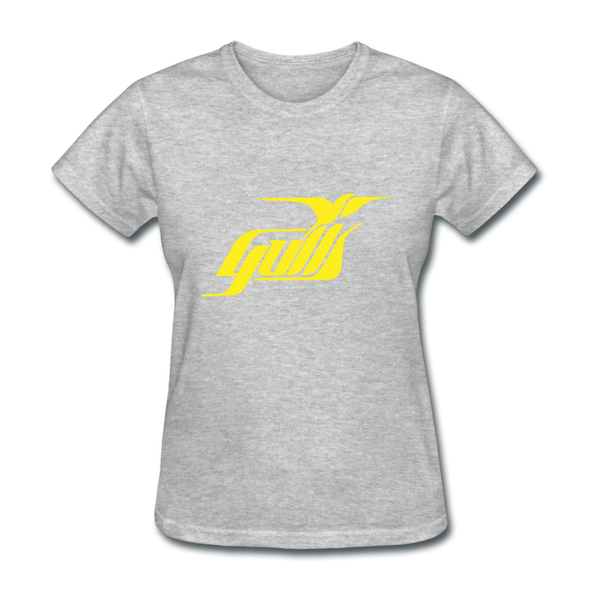 Hampton Gulls Yellow Logo Women's T-Shirt (SHL) - heather gray