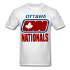 Ottawa Nationals Text Logo T-Shirt (WHA) - light heather grey