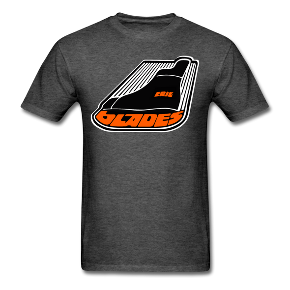 Erie Blades Logo T-Shirt - heather black