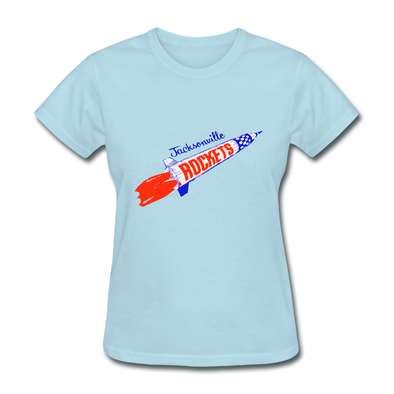 Jacksonville Rockets Logo Women's T-Shirt (EHL) - powder blue