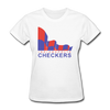 Indianapolis Checkers Logo Women's T-Shirt (CHL) - white