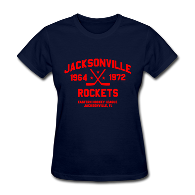 Jacksonville Rockets Dated Women's T-Shirt (EHL) - navy