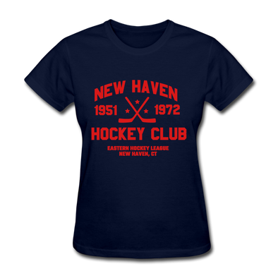 New Haven Hockey Club Dated Women's T-Shirt (EHL) - navy