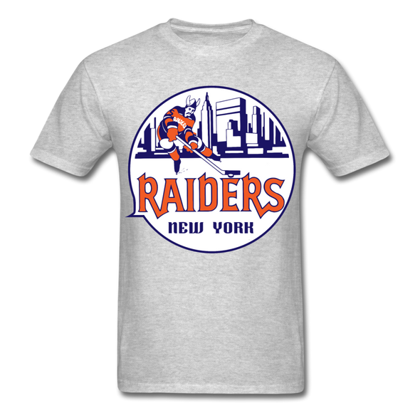 New York Raiders Logo T-Shirt (WHA) - heather gray