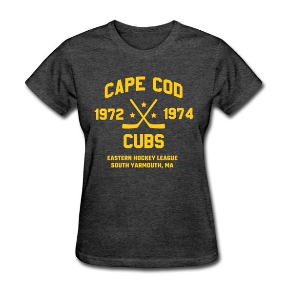 Cape Cod Cubs Dated Women's T-Shirt (EHL & NAHL) - heather black