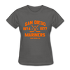 San Diego Mariners Dated Women's T-Shirt (WHA) - charcoal