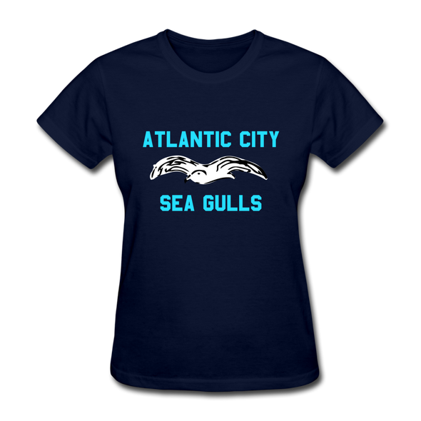 Atlantic City Sea Gulls Logo Women's T-Shirt (EHL) - navy