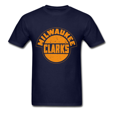 Milwaukee Clarks Monocolor Distressed Logo T-Shirt (EHL) - navy