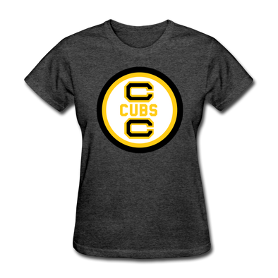 Cape Cod Cubs Logo Women's T-Shirt (EHL & NAHL) - heather black
